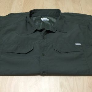 COLUMBIA OMNI SHADE VENTED SHORT SLEEVE SHIRT XXL